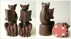 ネコのブックエンドB(3)