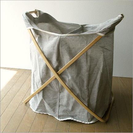 ランドリーバスケットシンプルおしゃれ洗濯かご