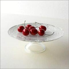 ケーキ皿ケーキプレートホワイト白食器器ガラススイーツケーキスタンドシルバー銀フルーツ入れ...