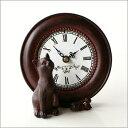 置時計 置き時計 猫 雑貨 置物 キャット&マウスクロック