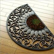 おしゃれ アンティーク ヨーロピアン エレガント ガーデン ココヤシ ひまわり デザイン エントランスマット ソレイユ