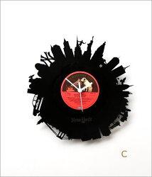 アナログレコードの掛け時計3タイプ