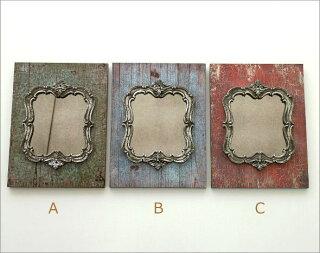 ブロカントなミラーの壁飾り3カラー