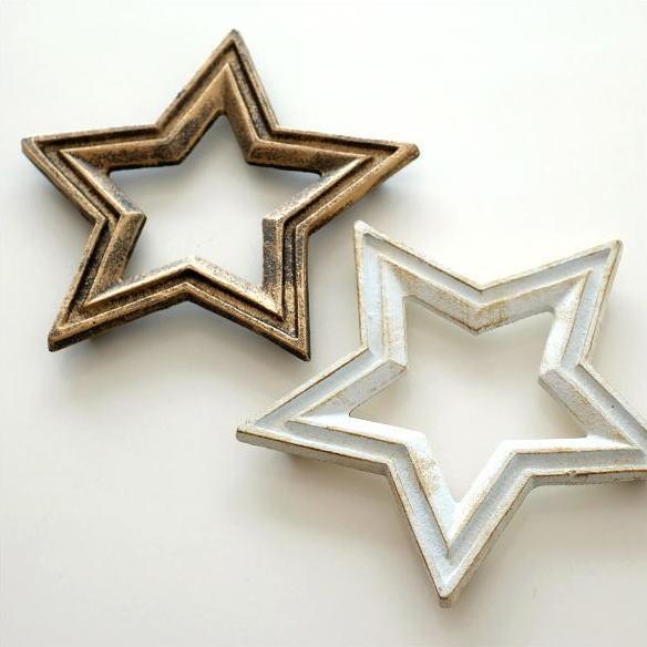 鍋敷き おしゃれ かわいい 星 デザイン なべしき アイアンの鍋しき スター2カラー