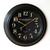 掛け時計 壁掛け時計 LONDON 1894 黒 モダン ウォールクロック かっこいい クラシック レトロ アンティーク おしゃれ シンプル 50cm ブラックスチールの掛時計