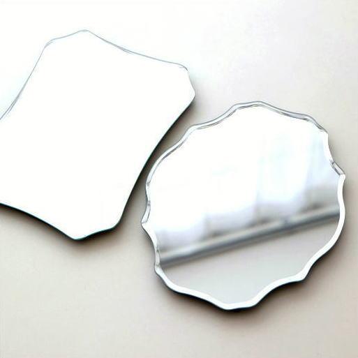 鏡 卓上ミラー 壁掛けミラー スタンドミラー ウォールミラー シンプル かわいい おしゃれ コンパクト デザイン ルディックミラー 2タイプ