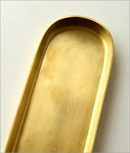 ペントレー アンティーク おしゃれ レトロ ブラス 真鍮 ペン置き アクセサリートレイ インテリアトレイ シンプル 真鍮のロングトレイ