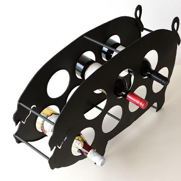 『メタルピッグワインホルダー』