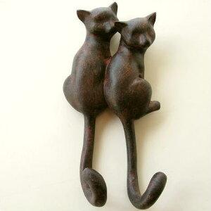 壁掛けフックウォールフックキーフック鍵掛けタオル掛け猫グッズねこグッズネコグッズかわいい...