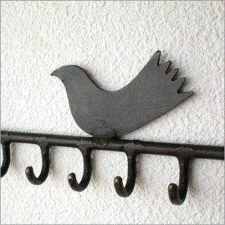 小鳥の壁掛けアクセサリーホルダー
