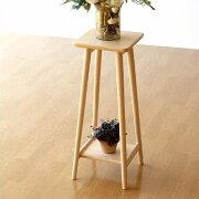 フラワー スタンド サイドテーブル コンパクト おしゃれ シンプル スクエア デザイン テーブル ディスプレイ ディスプレー ナチュラル
