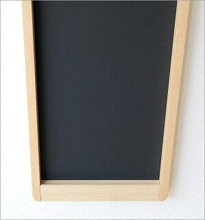 ナチュラルウッドの黒板縦型