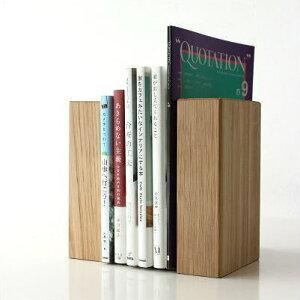 ブックエンド 木製 無垢 天然...
