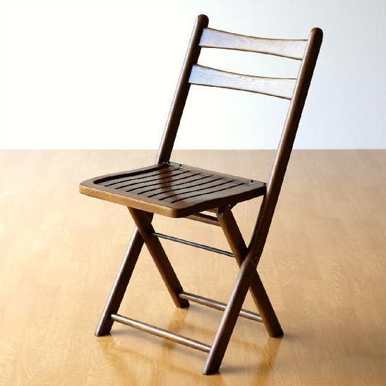 オーク無垢材 折りたたみ椅子 天然木製 フォールディングチェア 背もたれ 折りたたみ椅子 アンティーク風 ウッドチェア 折りたたみ椅子 木製 補助椅子 アンティーク風 キッチン ダイニング 木製折りたたみ椅子 完成品 送料無料 オークフォールディングチェアーの写真