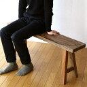 シャビーシック家具 ウッドベンチ 天然木 木製ベンチ スリム 省スペース 長いす レトロ ナチュラル カントリー アンティーク調 モダン シンプルベンチ 玄関ベンチ 玄関椅子 腰掛け 長椅子 木製 ベンチ ヴィンテージ風 ベンチ 送料無料 シャビーシックなウッドベンチの写真