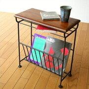マガジンラック テーブル おしゃれ マガジン スタンド アイアン サイドテーブル アンティーク シーシャムマガジンテーブル
