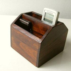 リモコンスタンドリモコン収納リモコンラック木製小物入れリモコンボックスリモコンケースペン...
