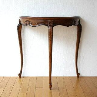 アジアン家具木製花台マホガニーコンソールL(猫脚)
