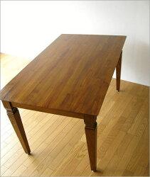 チークダイニングテーブル135(5)