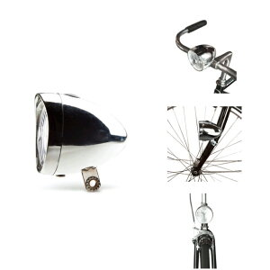 LINUS(ライナス) ACCESSORIESHEAD LAMP(ヘッドランプ)電池式フロントライト・砲弾型ライト