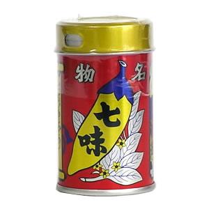 長野県善光寺名物で有名な七味唐辛子八幡屋礒五郎 七味唐辛子(缶)14g