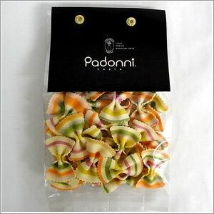 人工着色料不使用!イタリア産「パドンニ」のパスタパドンニストライプ小さい蝶ちょパスタ