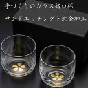 ガラス製猪口杯 2個セット(本金箔加工)GOLD LEAF CYOKO