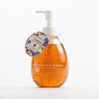 【CHAYAcosmeゴールドボディシャンプー琥珀色の蜂蜜の香り】茶屋コスメ金箔ボディケアボディソープ箔座HAKUZAはちみつ