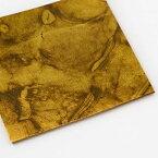 【色箔銀彩マーブル 純金色(じゅんきんしょく)3寸6分(100枚入)】虹彩箔 材料 DIY 工芸用 箔座 HAKUZA