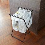 ゴミ袋&レジ袋スタンドブラック