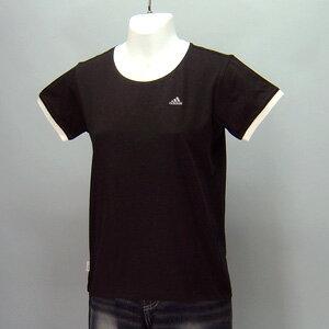 adidas★レディースワンポイント半袖Tシャツ(04440)237552黒
