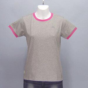 adidas★レディースワンポイント半袖Tシャツ(04440)237554グレー