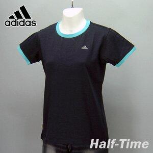 adidas★レディースワンポイント半袖Tシャツ(04440)237553紺