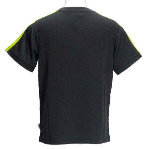 半袖Tシャツ/フィラ(FILA)ジュニア(D1904)肩切替04チャコール/黄緑