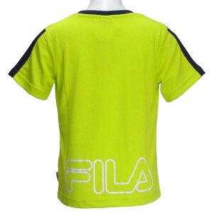 半袖Tシャツ/フィラ(FILA)ジュニア(D1910)肩切替31黄緑