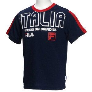 半袖Tシャツ/フィラ(FILA)ジュニア(D1910)肩切替45紺