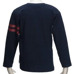 長袖Tシャツ/フィラ(FILA)ジュニア(D3806)長袖Tシャツ45紺/エンジ