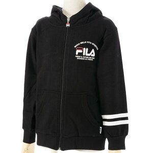フルZIPパーカー/フィラ(FILA)ジュニア(D4816)フルジップスウェットパーカー05黒