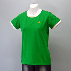 adidas★レディースワンポイント半袖Tシャツ(04440)237557グリン