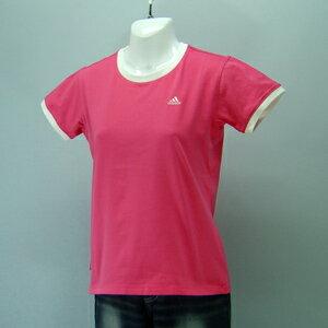 adidas★レディースワンポイント半袖Tシャツ(04440)237558ピンク