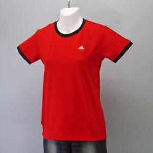 adidas★レディースワンポイント半袖Tシャツ(04440)237556赤