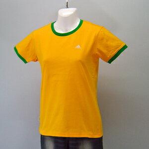adidas★レディースワンポイント半袖Tシャツ(04440)237559ゴールド