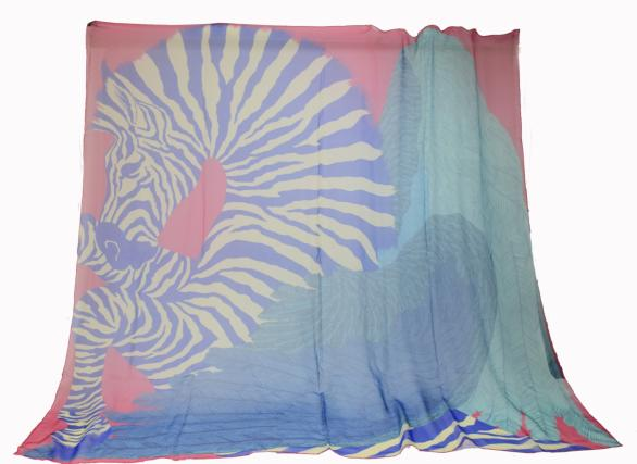 HERMES zebra pegasus scarf HERMES 140 ZEBRA PEGA...