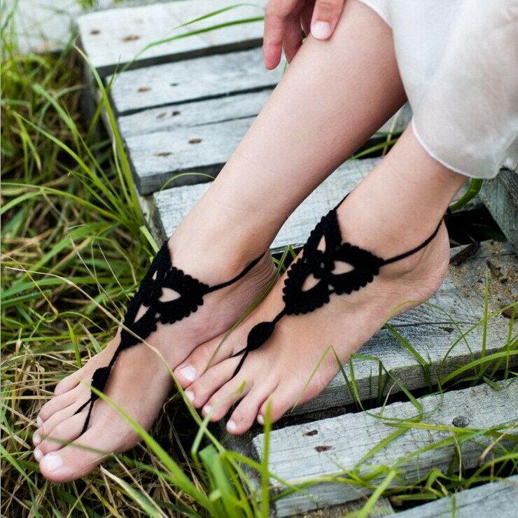 両足用 ベアフットサンダル クロッシェ BK barefoot sandal【お中元ギフト】【5400円以上で送料無料】