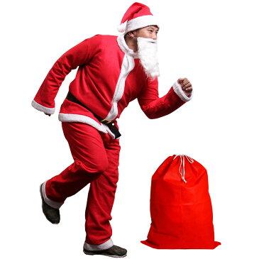 サンタ メンズ コスプレ 大きいサイズ サンタクロース6点セット サンタコス サンタクロース 衣装 コスチューム メンズ 【クリスマス】
