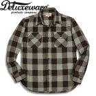 Deluxeware(デラックスウエアー)チェックネルシャツ【HV-0050sBUFFALOCHECK】グレー×パープル