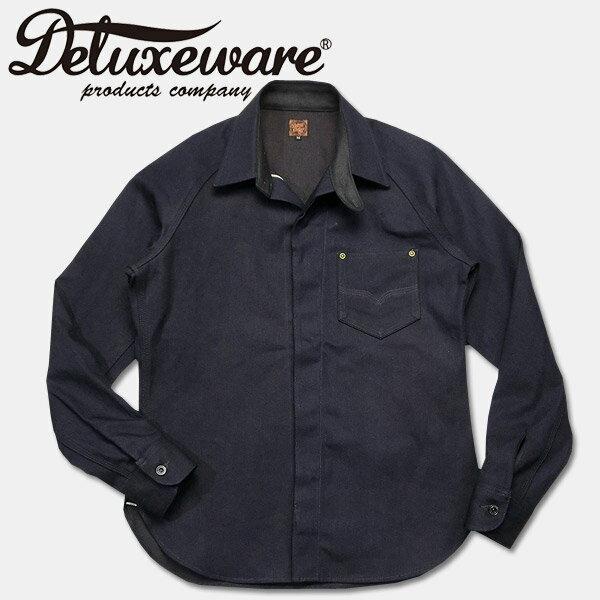 Deluxeware(デラックスウエアー)ブラウンデニムシャツ【7642 40s BROWN DENIM】