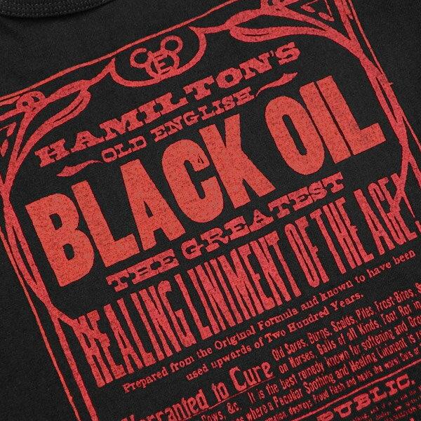 Deluxeware(デラックスウエアー)半袖Tシャツ【DLT-1904 BLACK OIL】ブラック