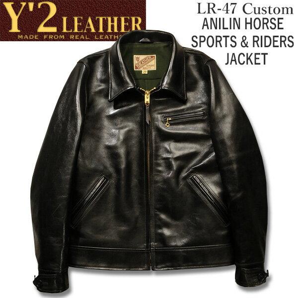 メンズファッション, コート・ジャケット Y2 LEATHER ANILIN HORSE SPORTS RIDERS JACKETLR-47()