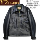 Y'2LEATHER(ワイツーレザー)INDIGOHORSESPORTS&RIDERSJACKET(インディゴホーススポーツ&ライダースジャケット)【IR-47】インディゴ